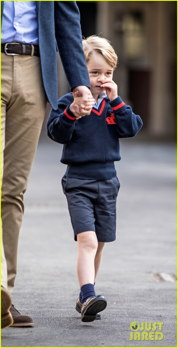 prince george arrives for first day of school 023951732