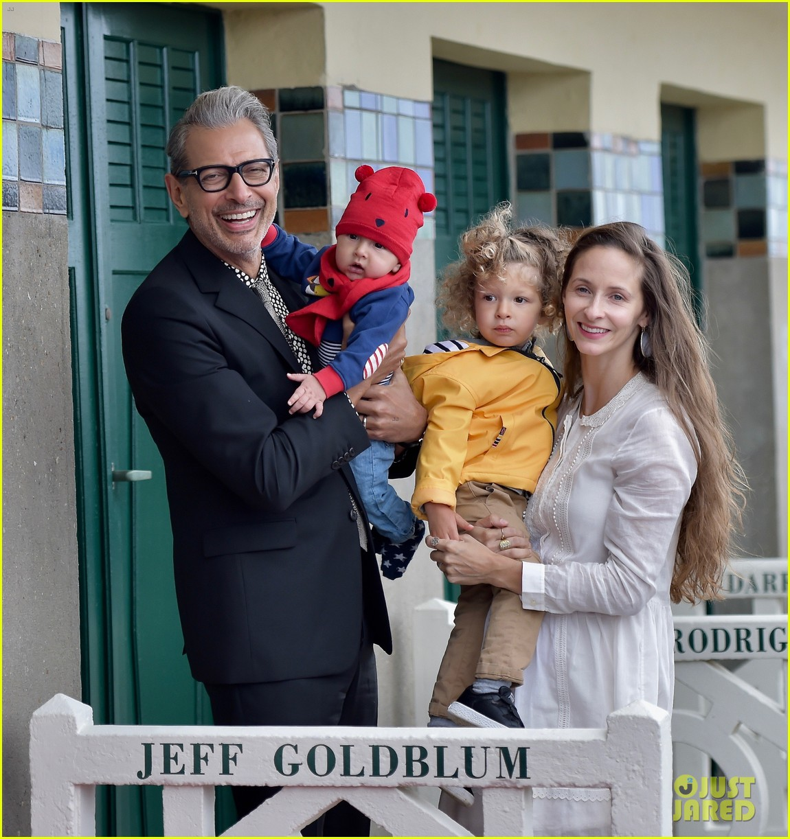 jeff goldblum is supported by wife emilie two sons at deauville film fest 043949933