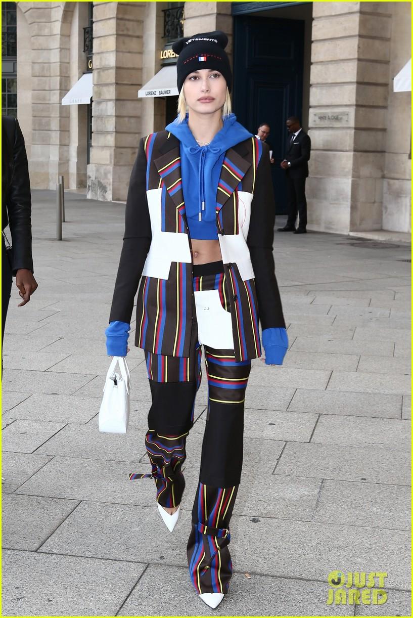 bella hadid and hailey baldwin look chic at paris fashion week dinner 053965424