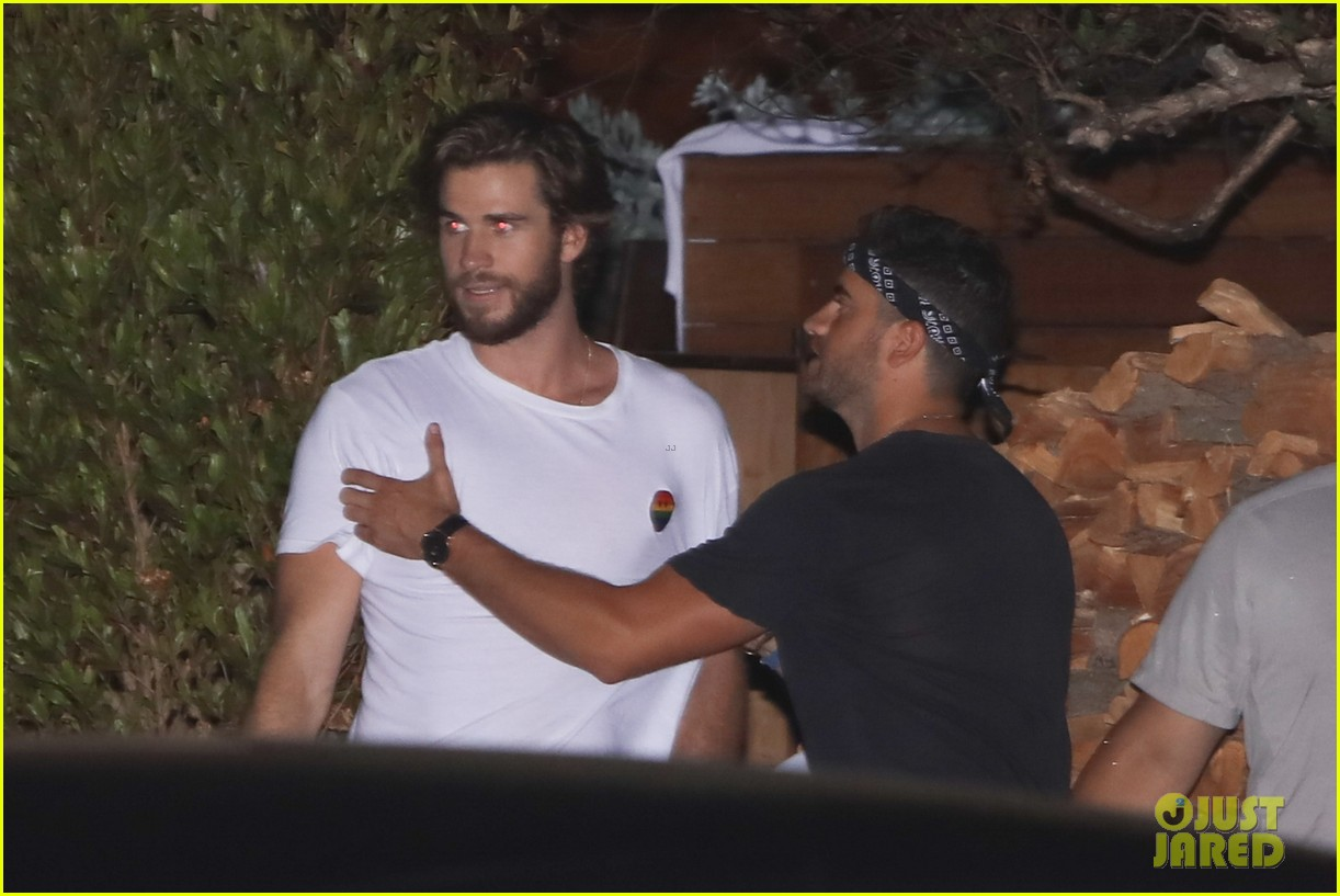 liam luke hemsworth grab dinner with friends and family 033949848