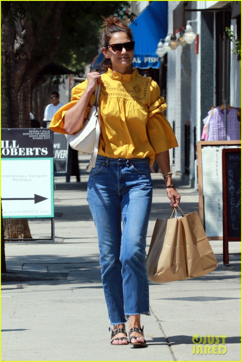 katie holmes yellow blouse studio city 013949787
