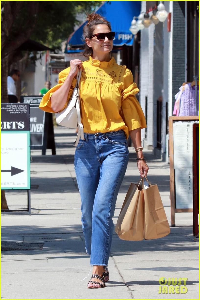 katie holmes yellow blouse studio city 023949788