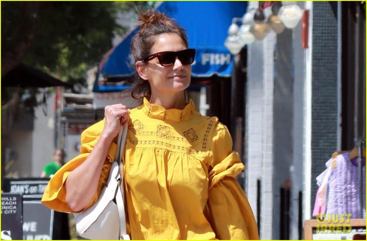 katie holmes yellow blouse studio city 033949789