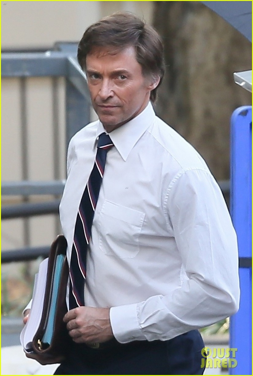 hugh jackman begins filming front runner see first photos of him as senator gary hart 013960604