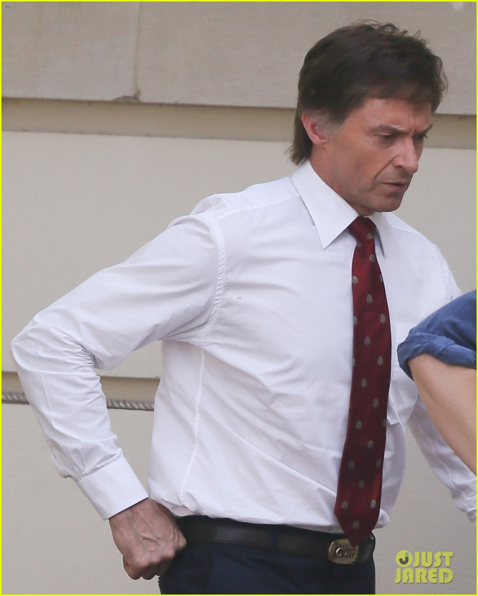 hugh jackman begins filming front runner see first photos of him as senator gary hart 033960606