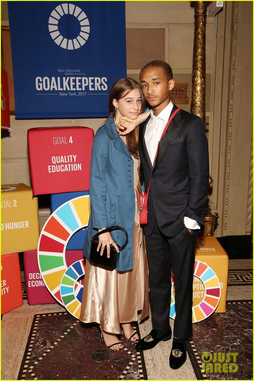 jaden smith girlfriend odessa adlon couple up at un global goals