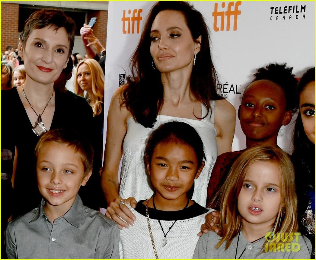 angelina jolie brings kids red carpet tiff 103954334