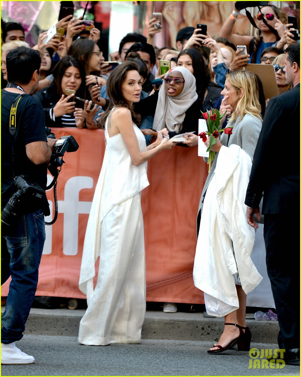 angelina jolie brings kids red carpet tiff 213954345