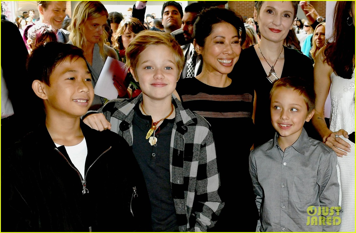 angelina jolie brings kids red carpet tiff 253954349