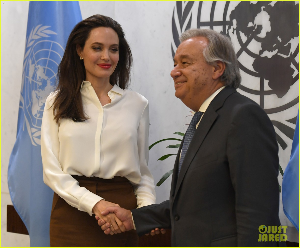 angelina jolie meets with un secretary general 033957117