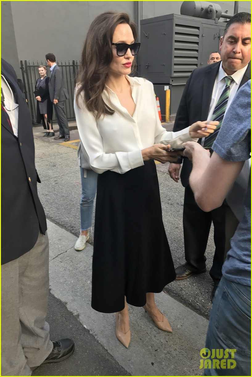 angelina jolie signs autographs 223959966