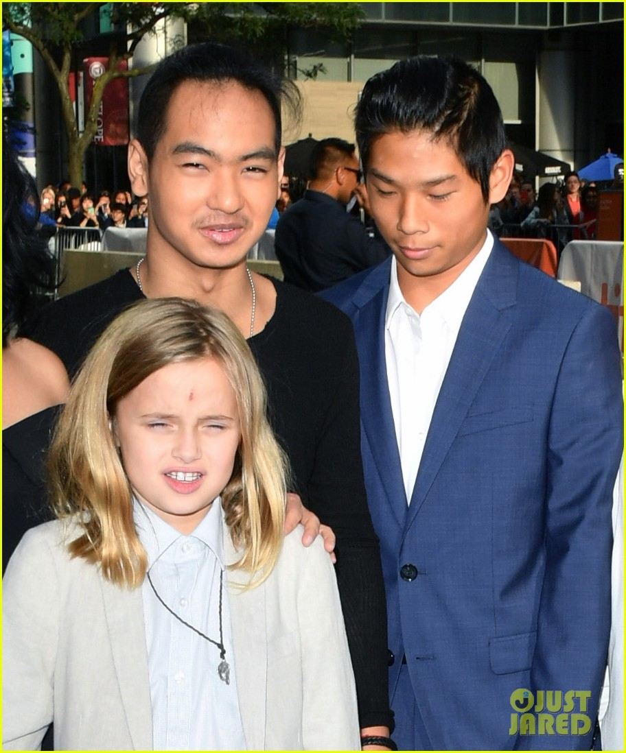 angelina jolies kids join her at first they killed my father tiff premiere 073955235