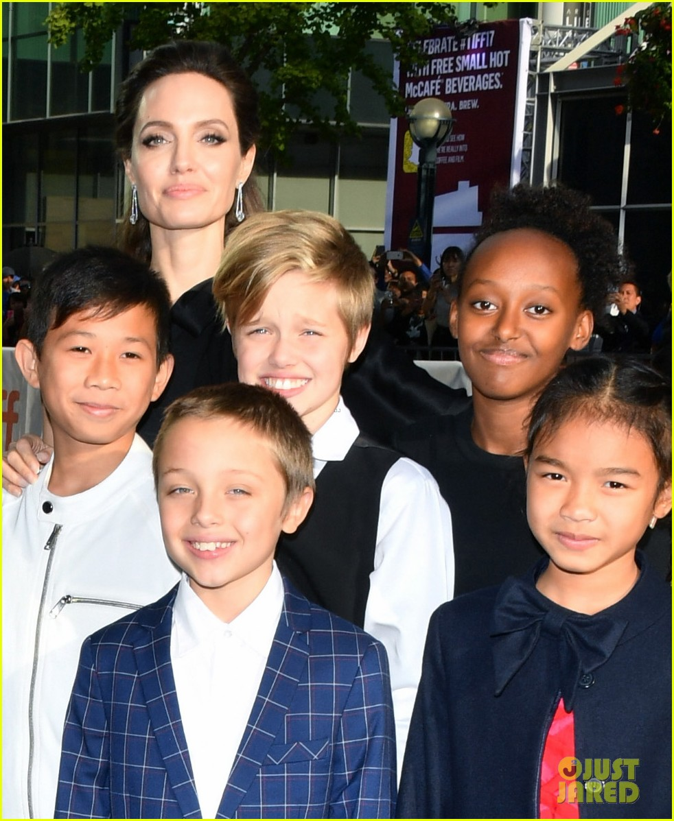 angelina jolies kids join her at first they killed my father tiff premiere 133955241