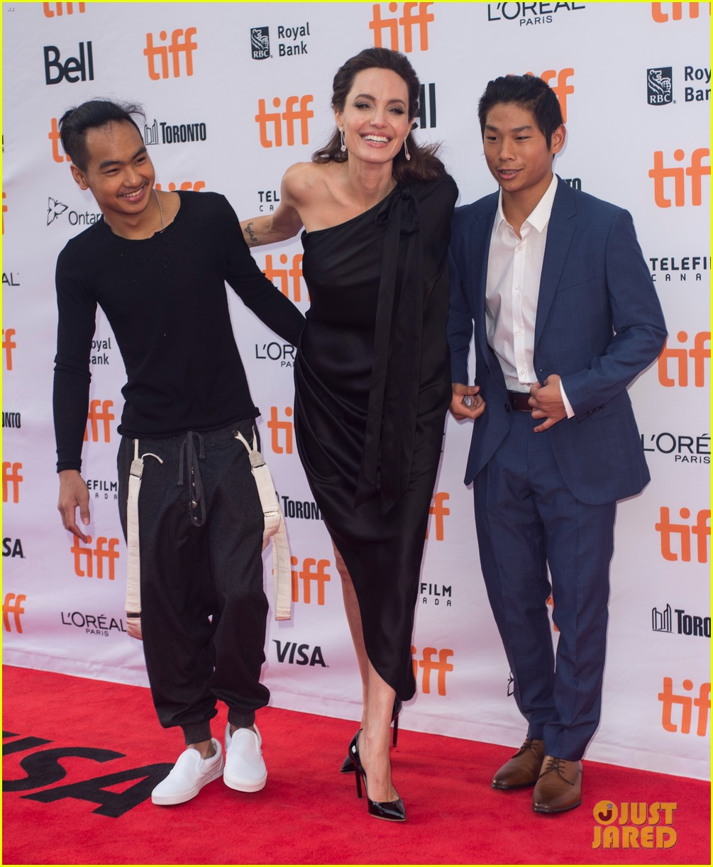 angelina jolies kids join her at first they killed my father tiff premiere 273955255