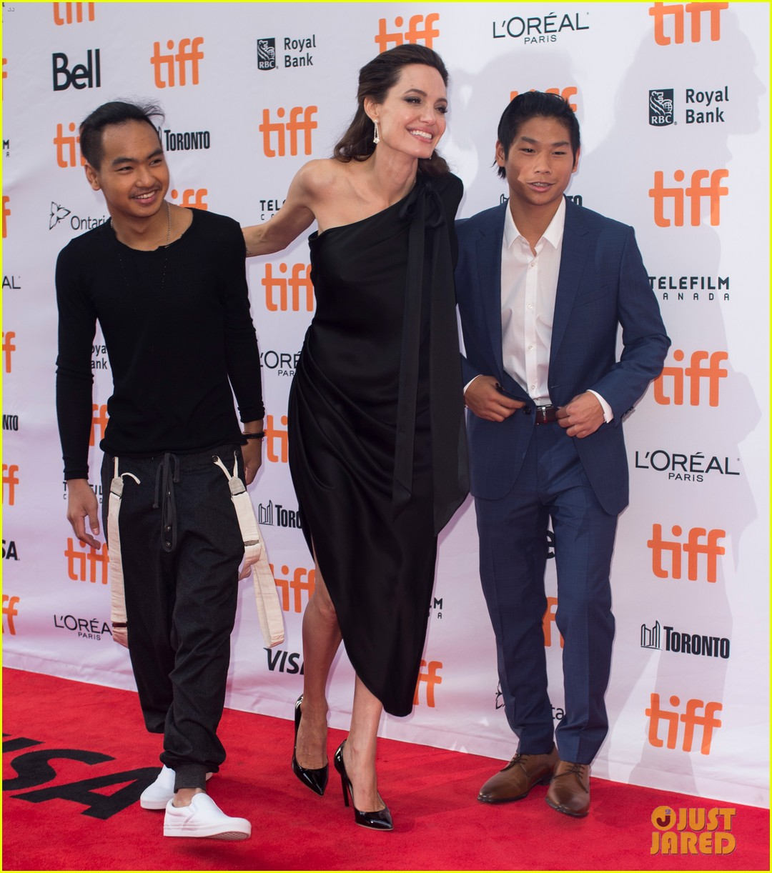 angelina jolies kids join her at first they killed my father tiff premiere 283955256