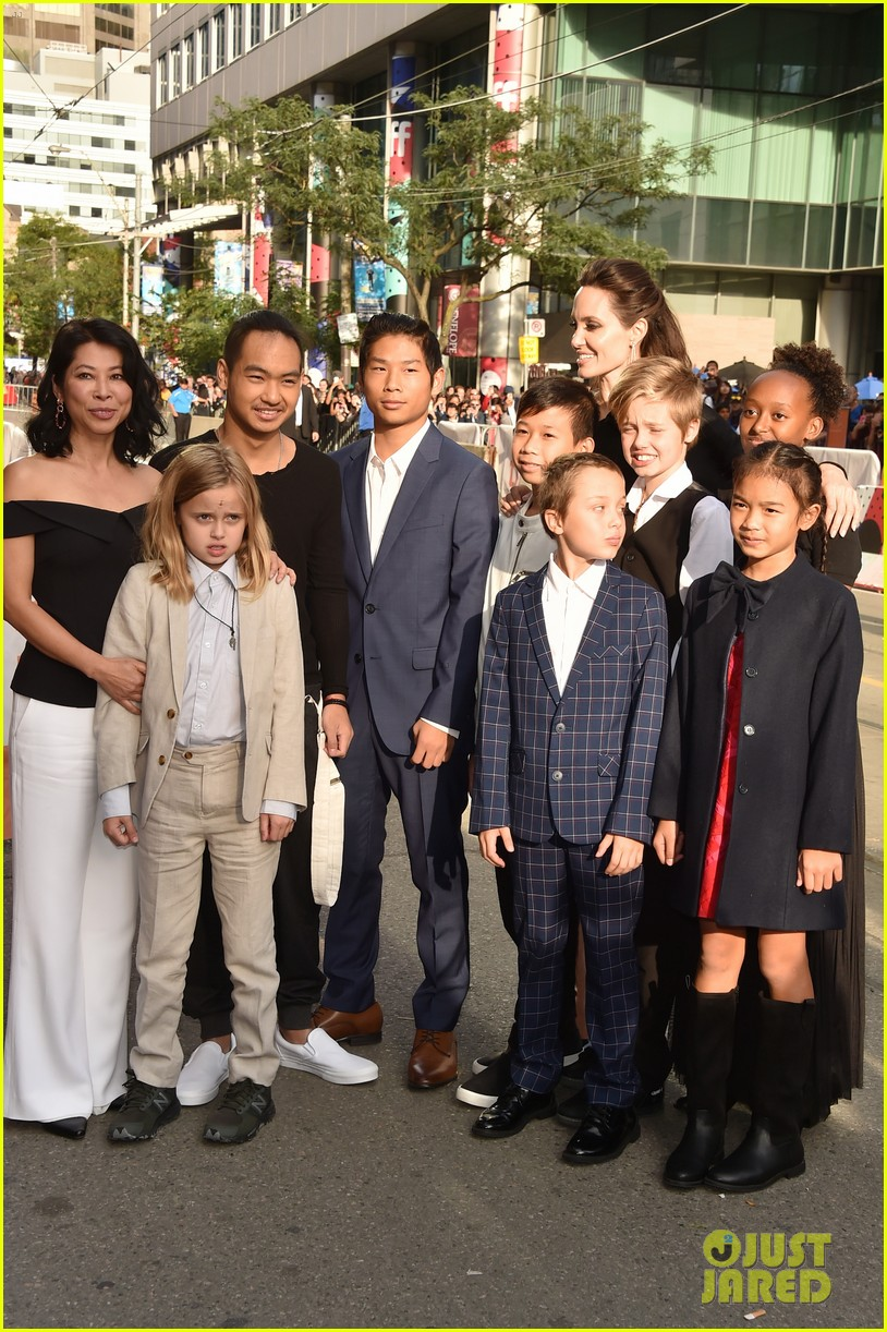 angelina jolies kids join her at first they killed my father tiff premiere 363955264