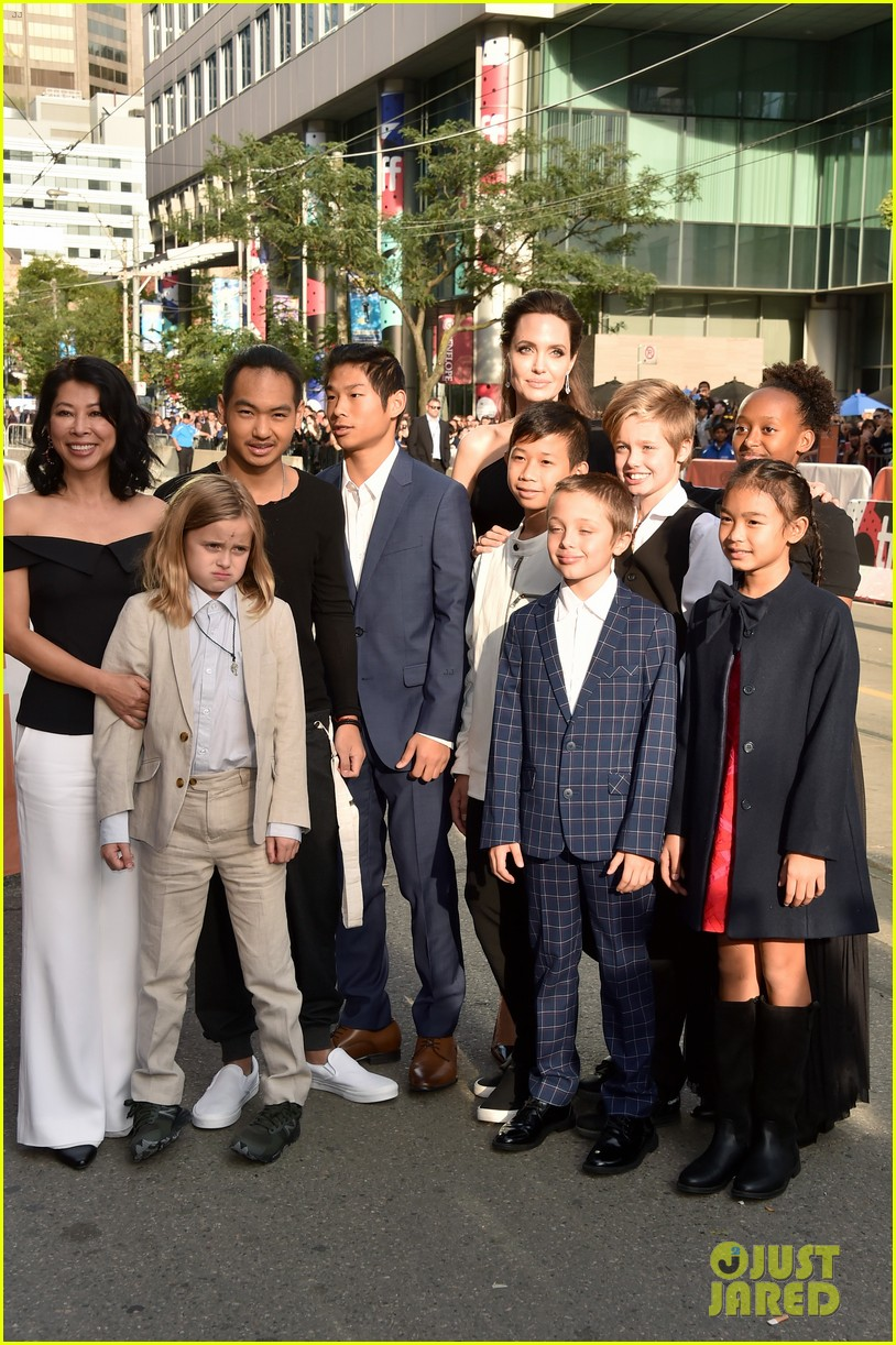 angelina jolies kids join her at first they killed my father tiff premiere 373955265
