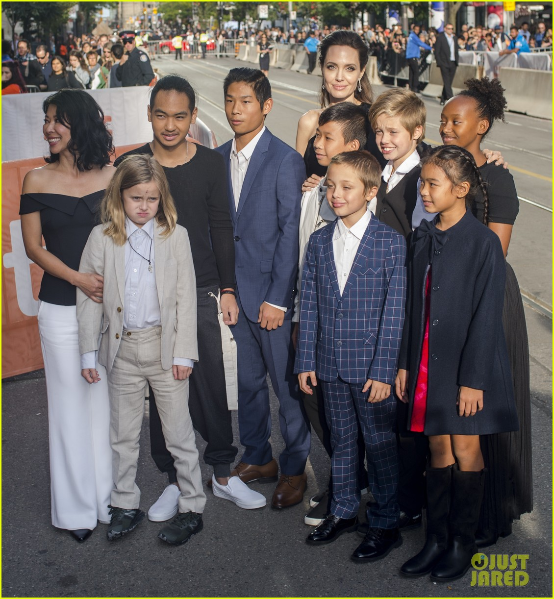 angelina jolies kids join her at first they killed my father tiff premiere 403955268