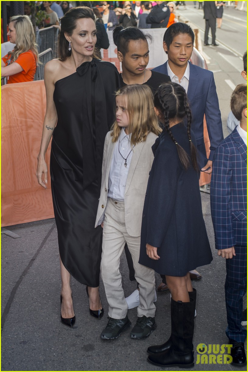 angelina jolies kids join her at first they killed my father tiff premiere 443955272