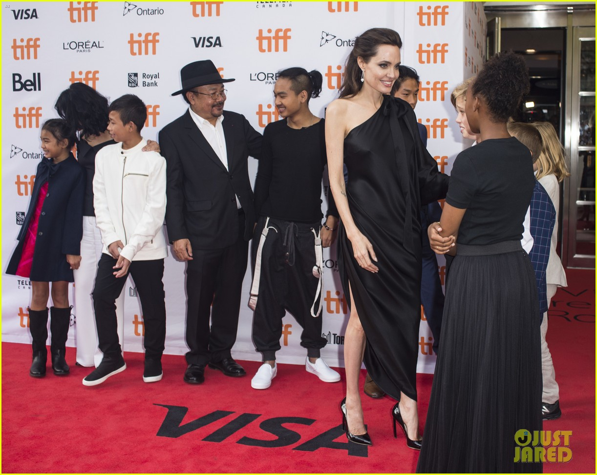 angelina jolies kids join her at first they killed my father tiff premiere 463955274