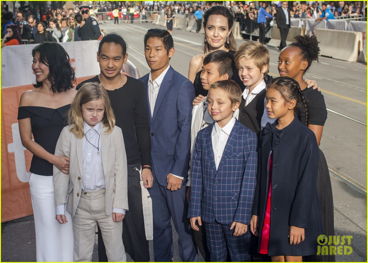 angelina jolies kids join her at first they killed my father tiff premiere 473955275