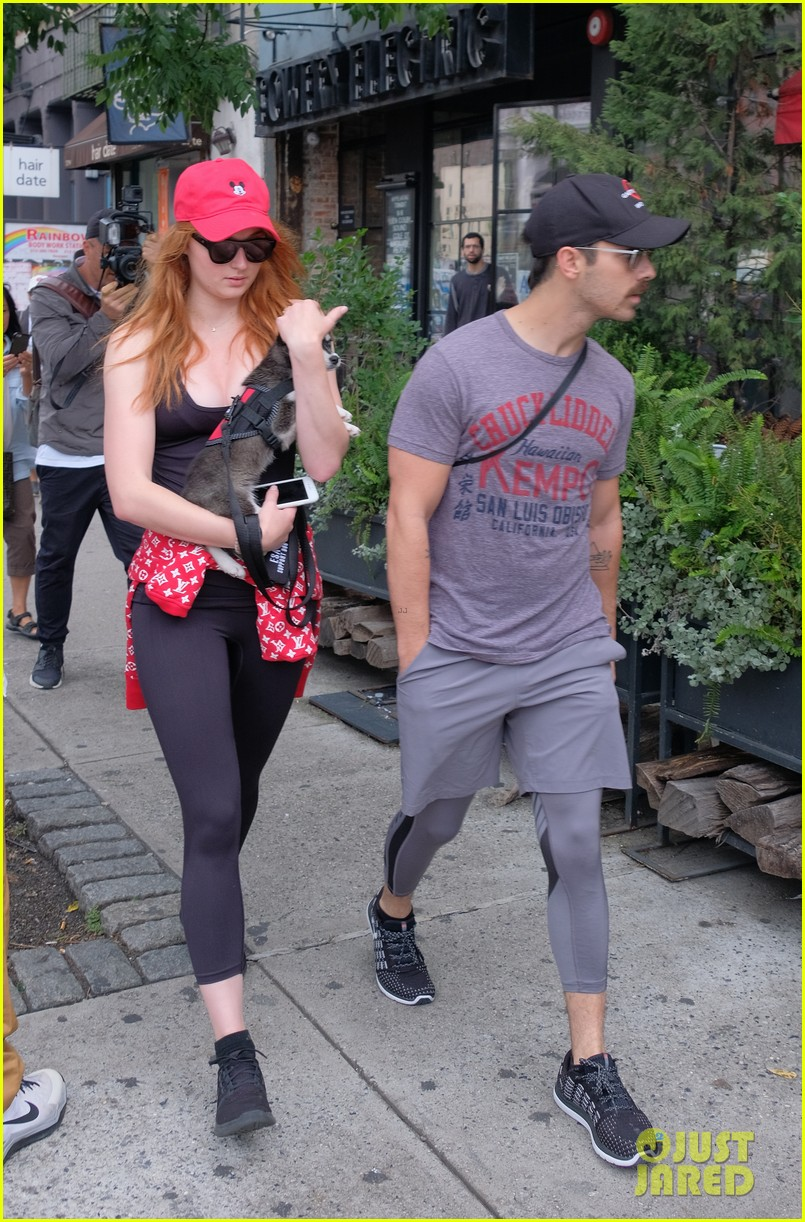 joe jonas and sophie turner adorably walk their new dog together 113952248