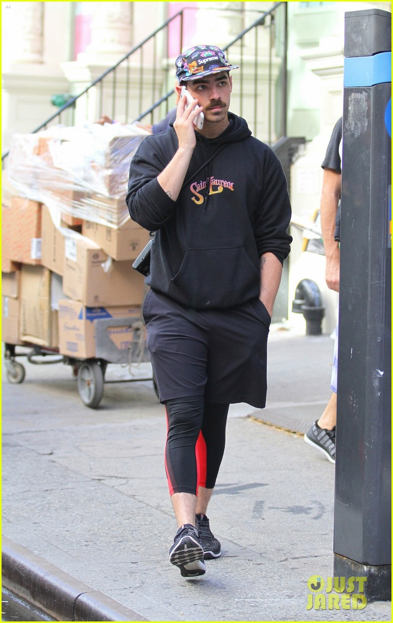 joe jonas wears colorful hat while out and about in the big apple 023966231