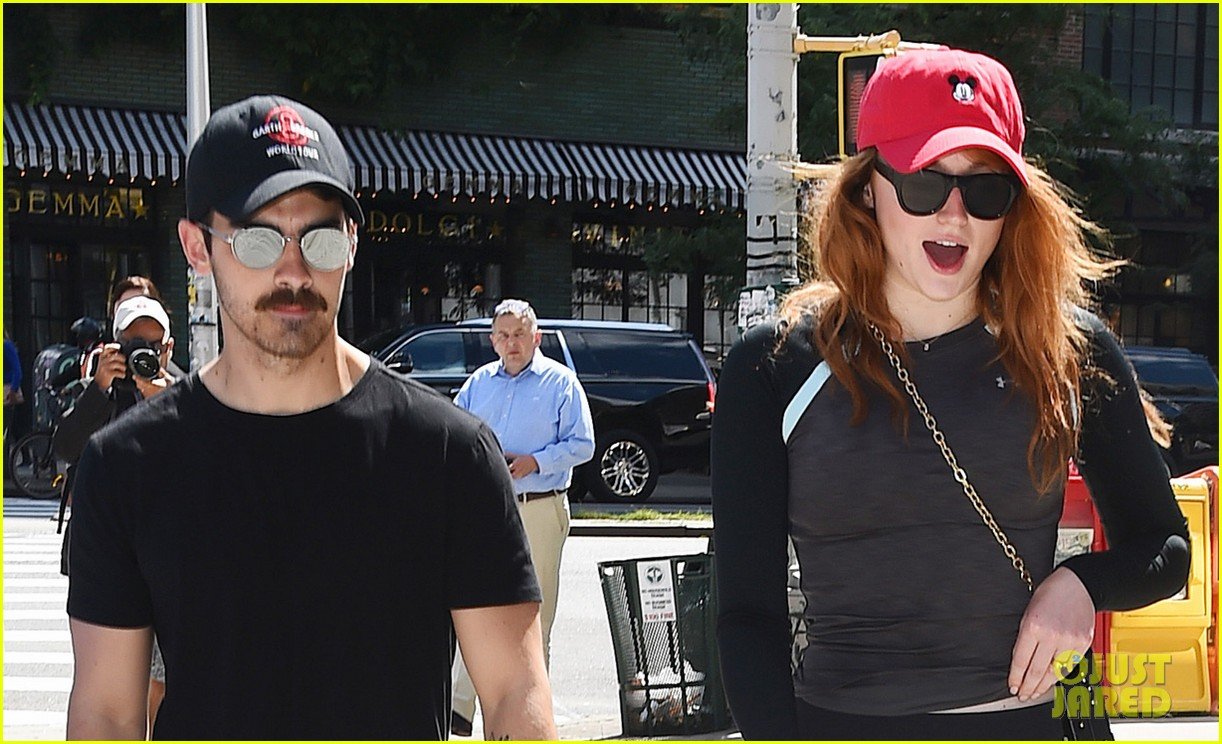 joe jonas sophie turner and their dog step out in coordinating outfits 063953751