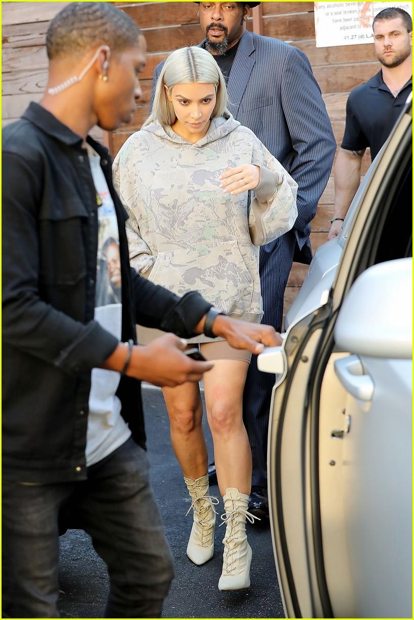 kim kardashian hits the studio in camo 023960600