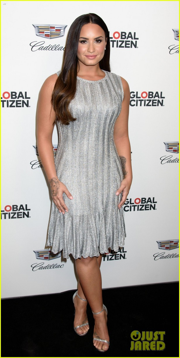 demi lovato dazzles at global citizen event in nyc 043962321