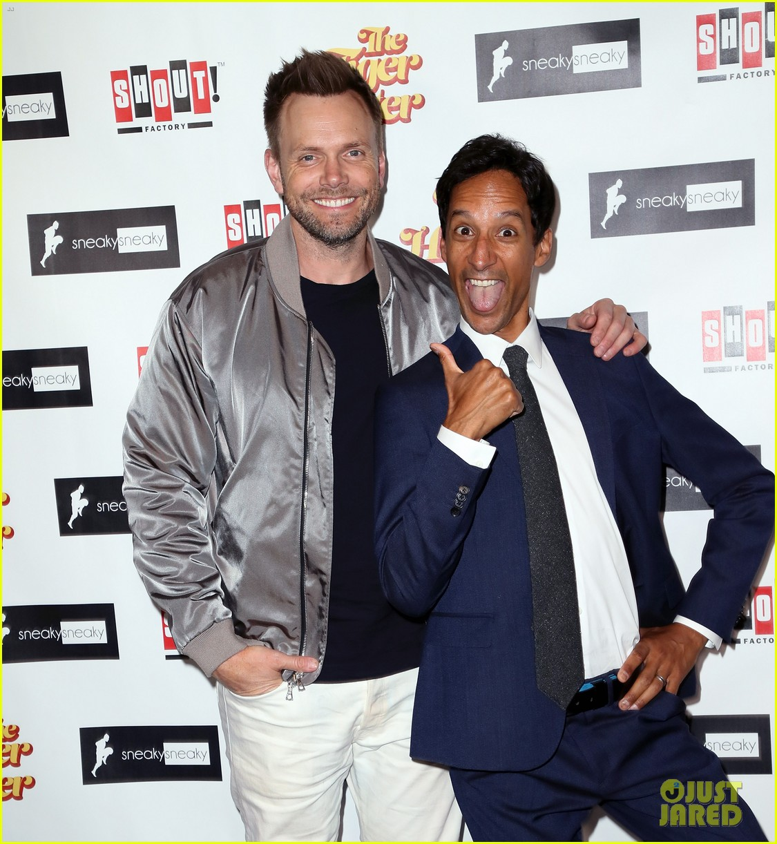 joel mchale supports danny pudi at tiger hunter premiere 033962848