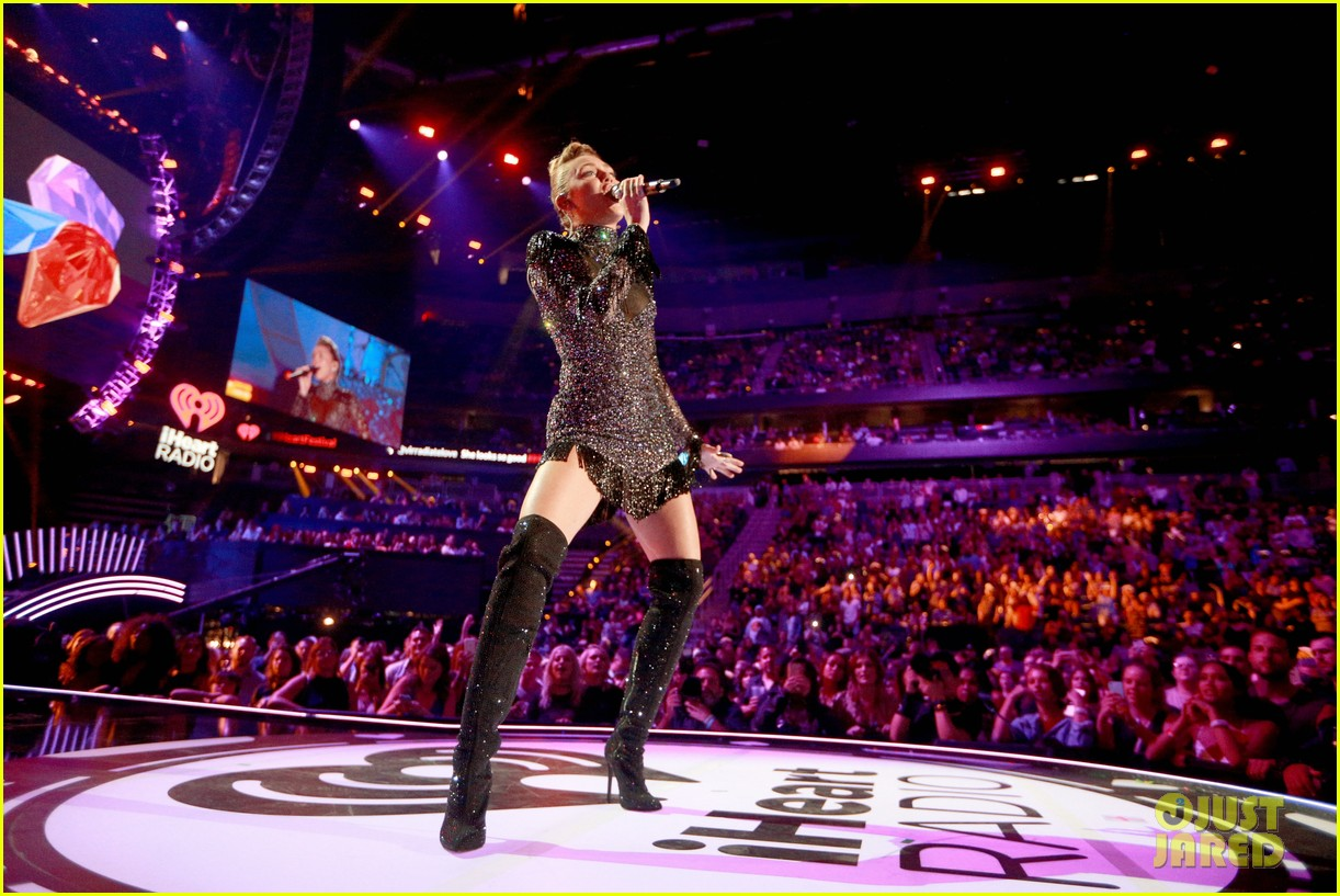 miley cyrus sparkles on stage at iheartradio music festival. 293963220