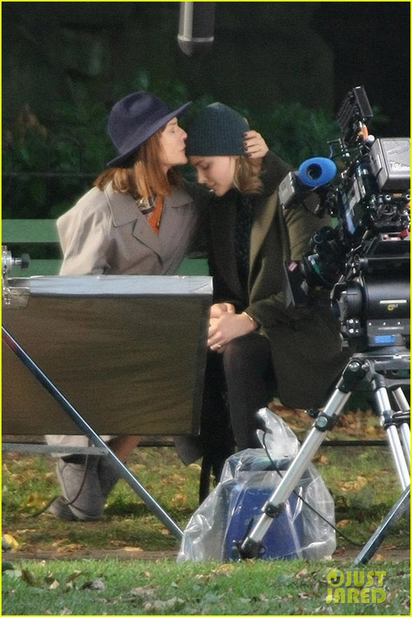 chloe moretz isabelle huppert begin filming the widow in ireland 013957144