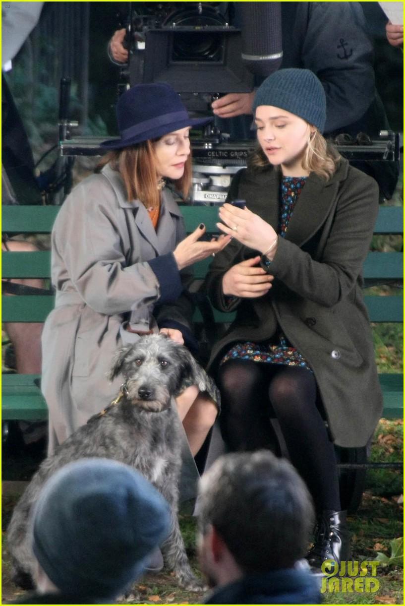 chloe moretz isabelle huppert begin filming the widow in ireland 033957146