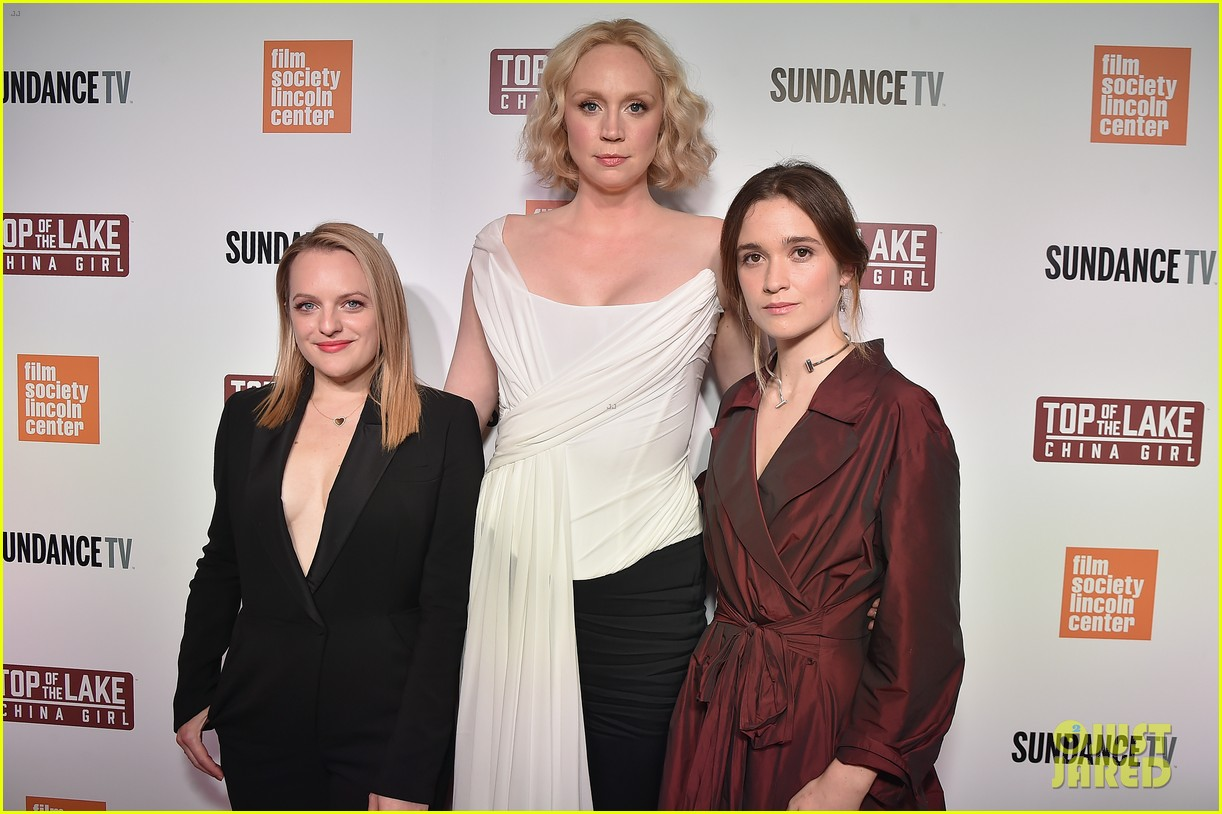 elisabeth moss gwendoline christie alice englert premiere top of the lake china girl 013952608