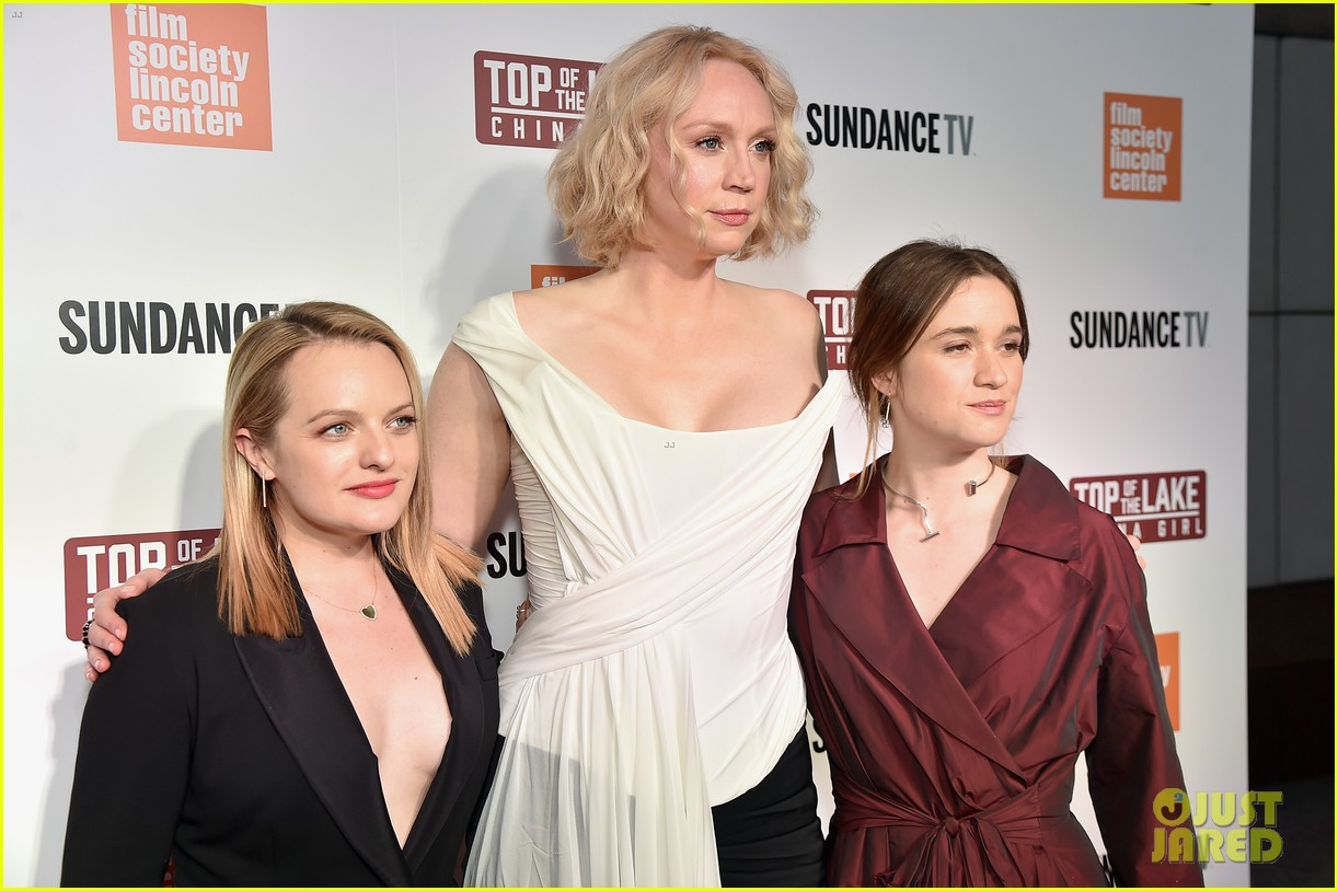 elisabeth moss gwendoline christie alice englert premiere top of the lake china girl 073952614