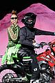 rihanna closes the fenty x puma fashion on a motorcycle 09