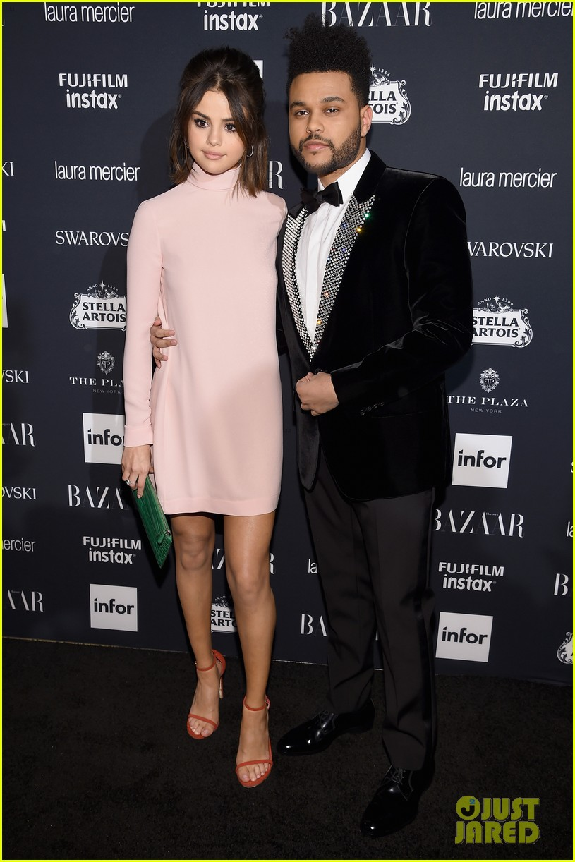 selena gomez the weeknd couple up harpers bazaar 013953102