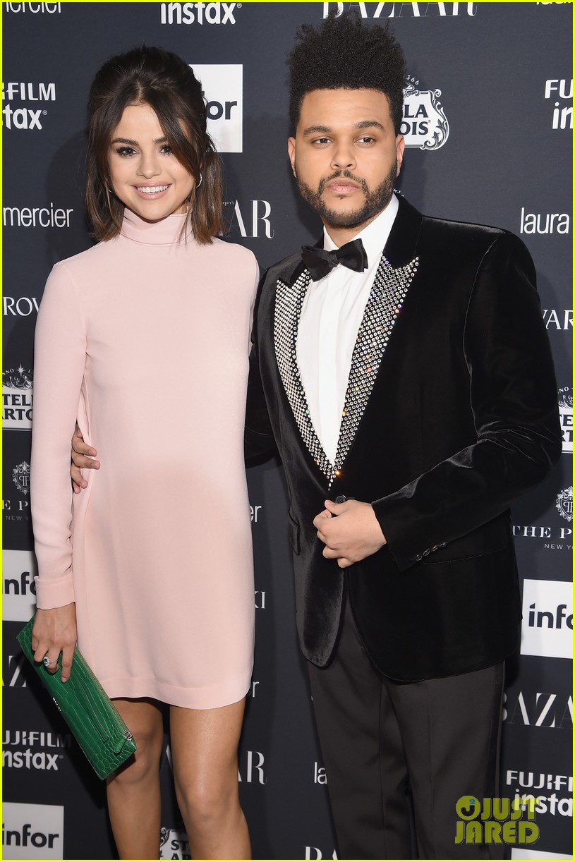 selena gomez the weeknd couple up harpers bazaar 033953104