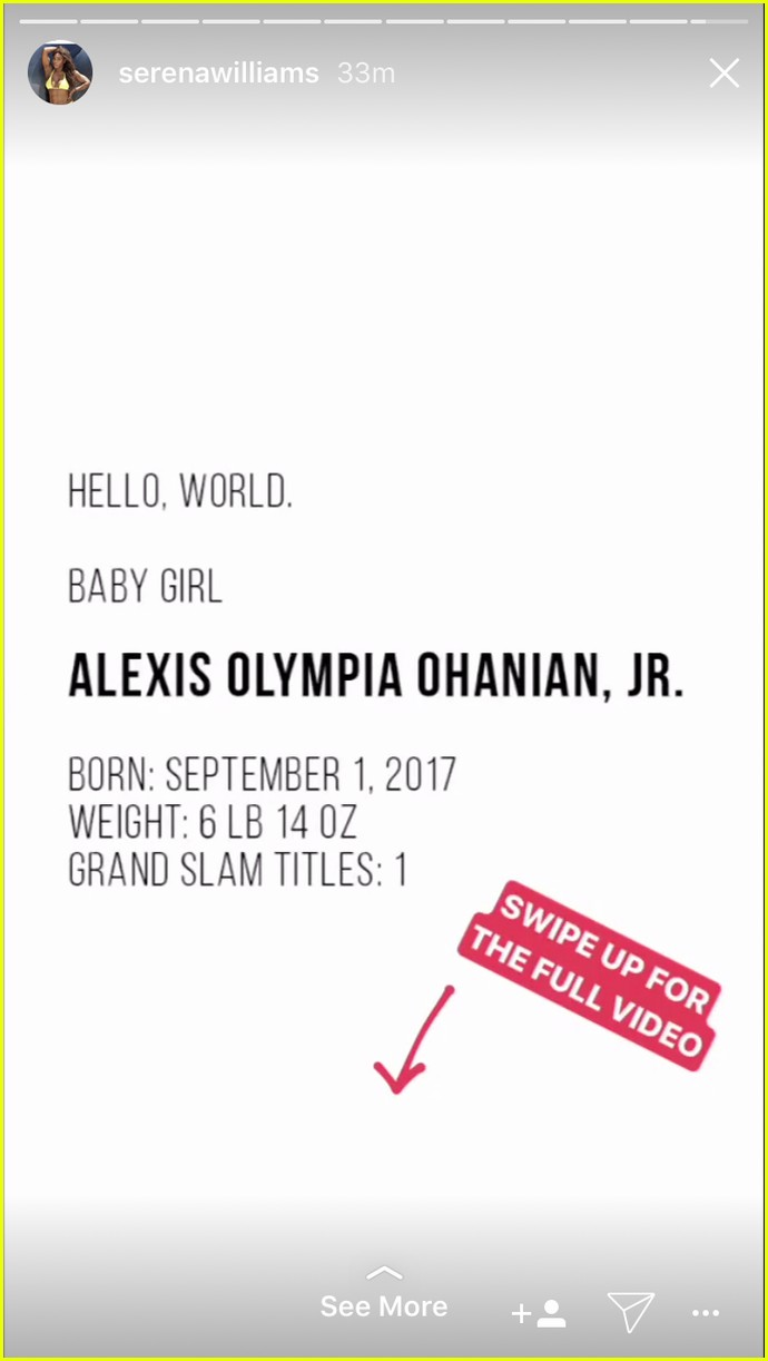 serena williams debuts baby daughter 013956285