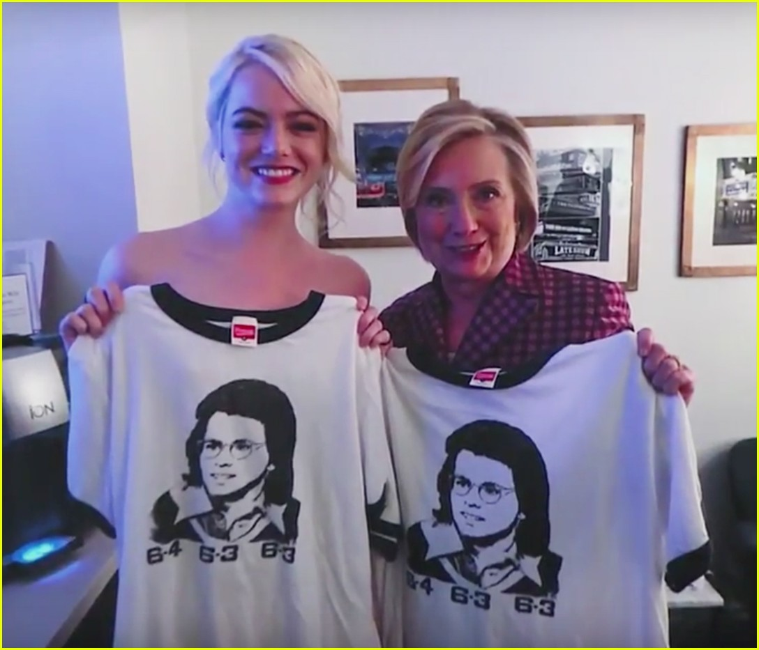 emma stone hillary clinton backstage photo 003961448