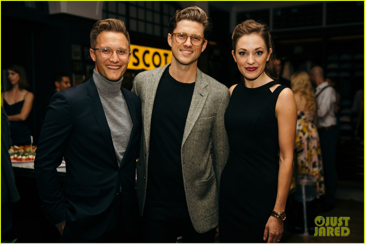 aaron tveit helps launch the x magazine with laura osnes 053965155