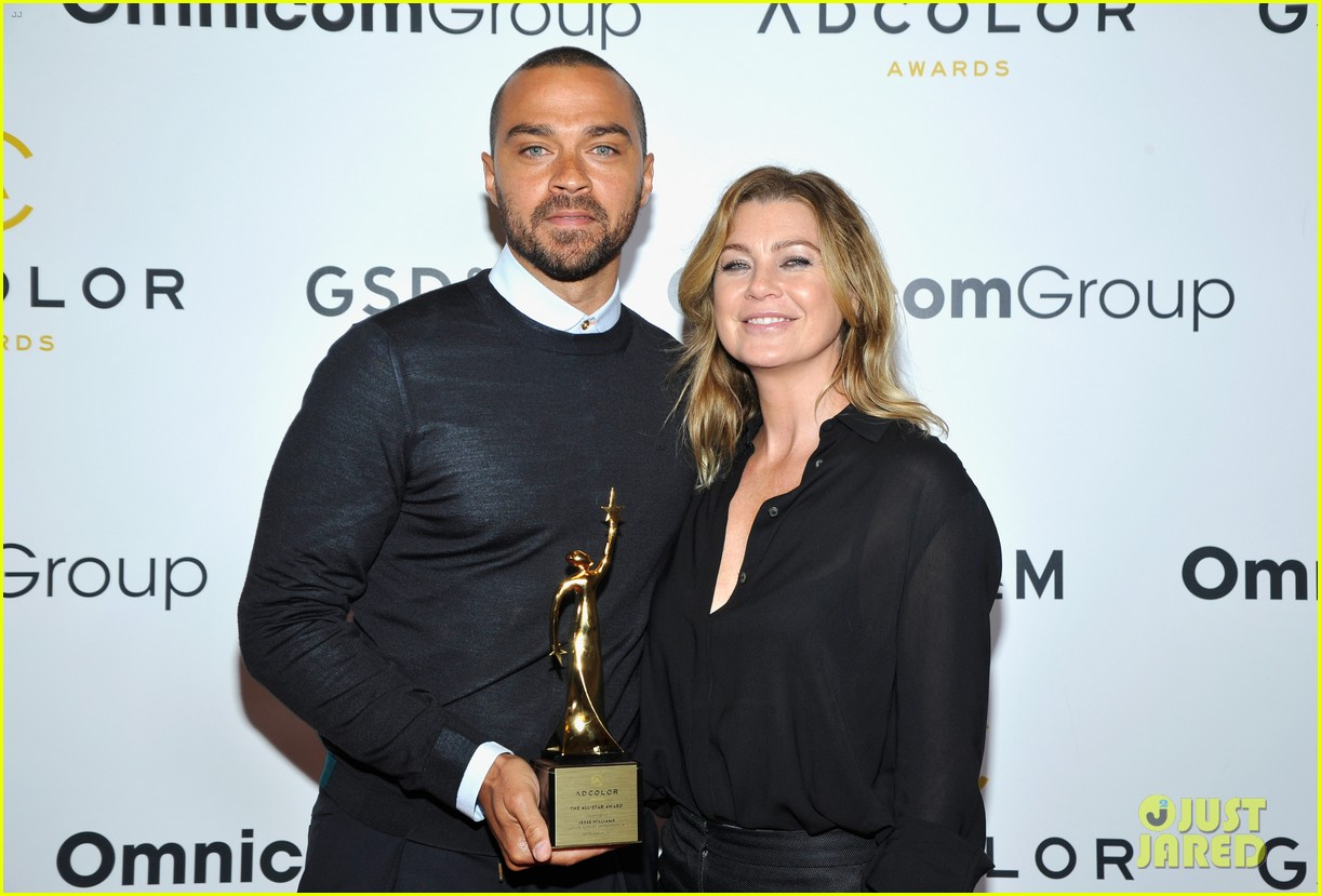 jesse williams is supported by ellen pompeo at adcolor awards 033961185