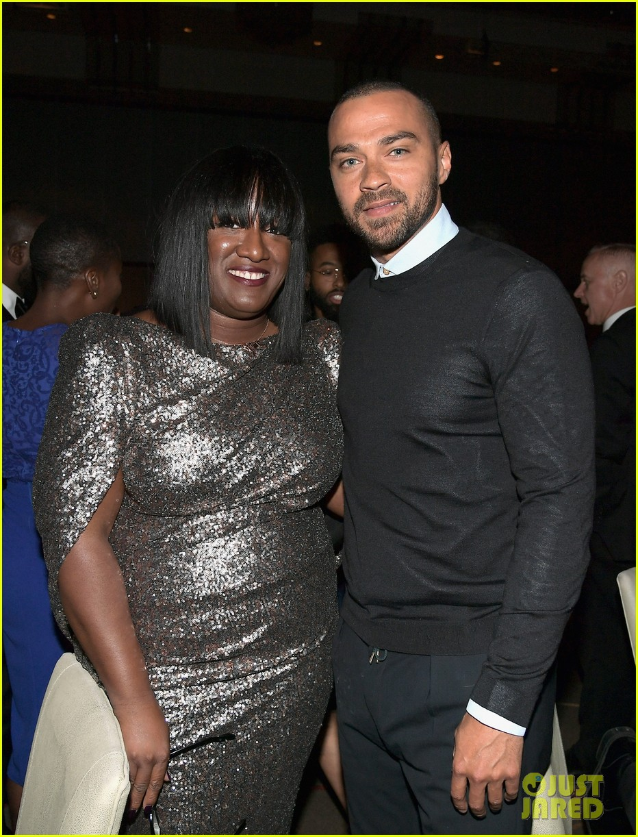jesse williams is supported by ellen pompeo at adcolor awards 083961190