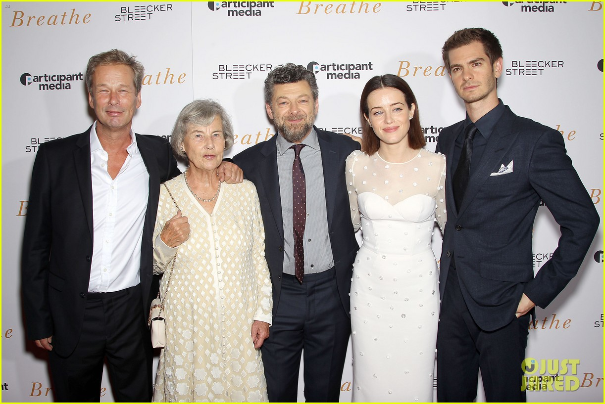 andrew garfield claire foy breath screening nyc 033970332