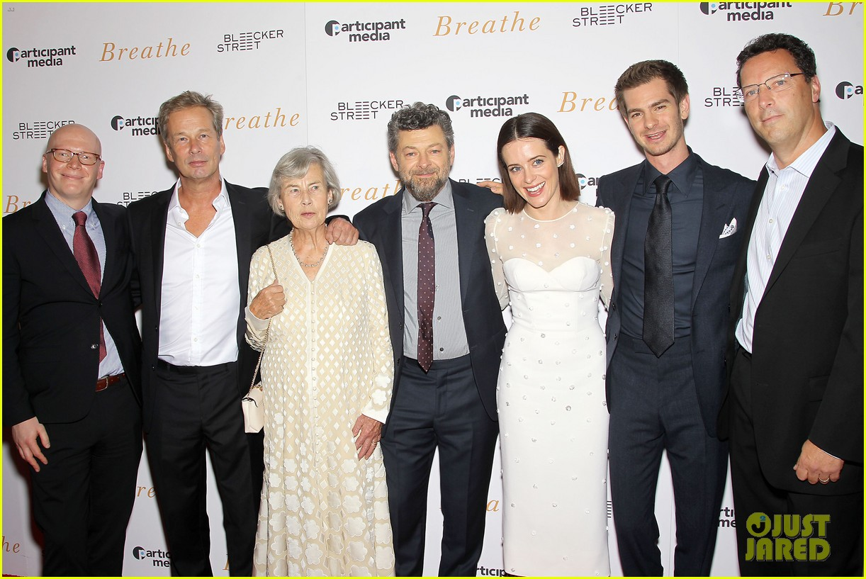 andrew garfield claire foy breath screening nyc 143970343