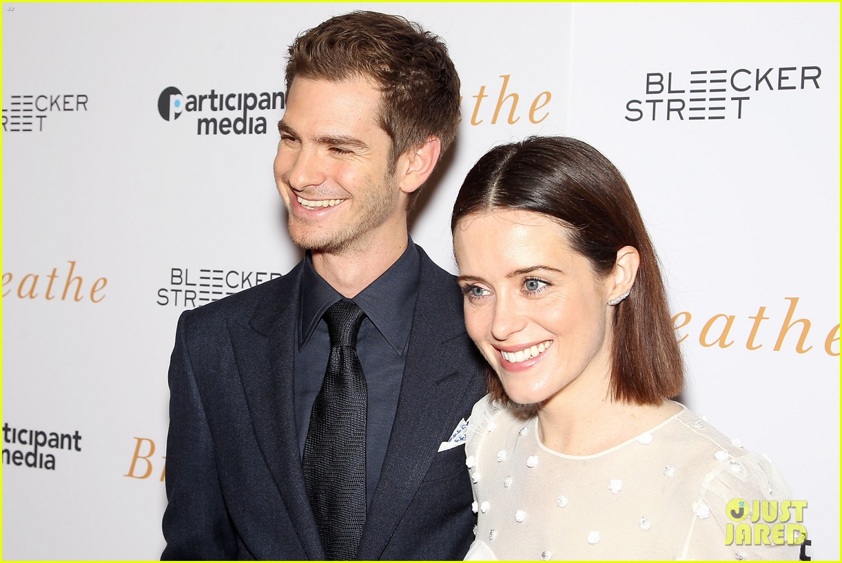 andrew garfield claire foy breath screening nyc 193970348