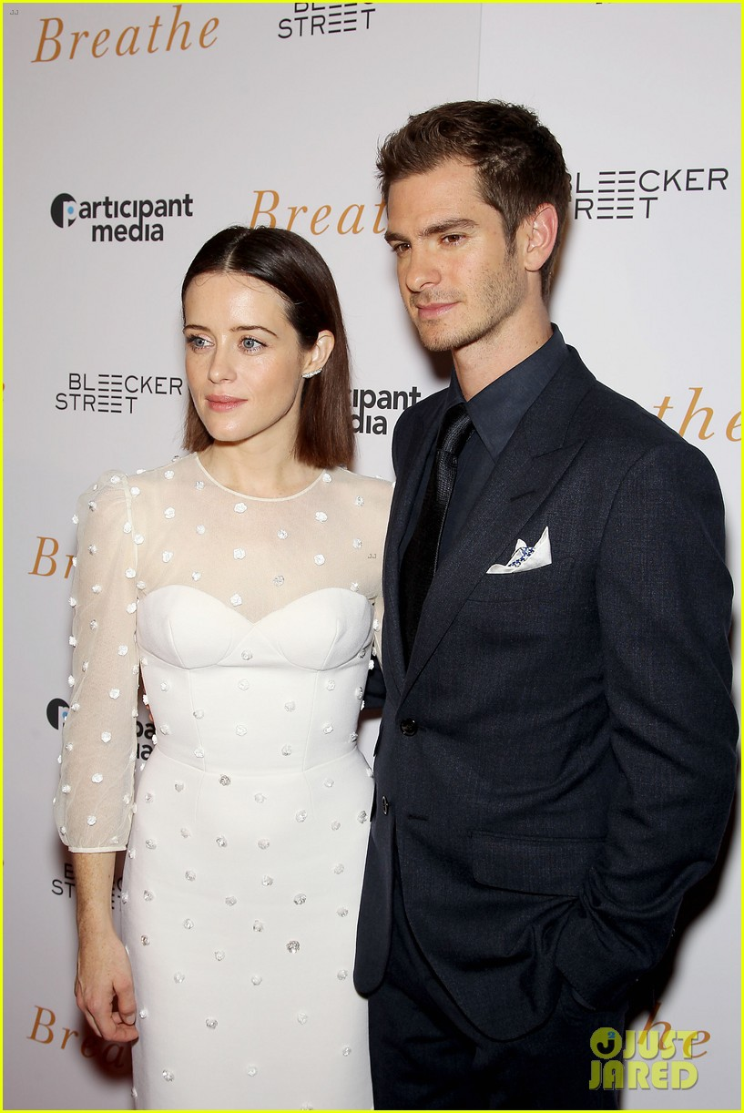 andrew garfield claire foy breath screening nyc 203970349
