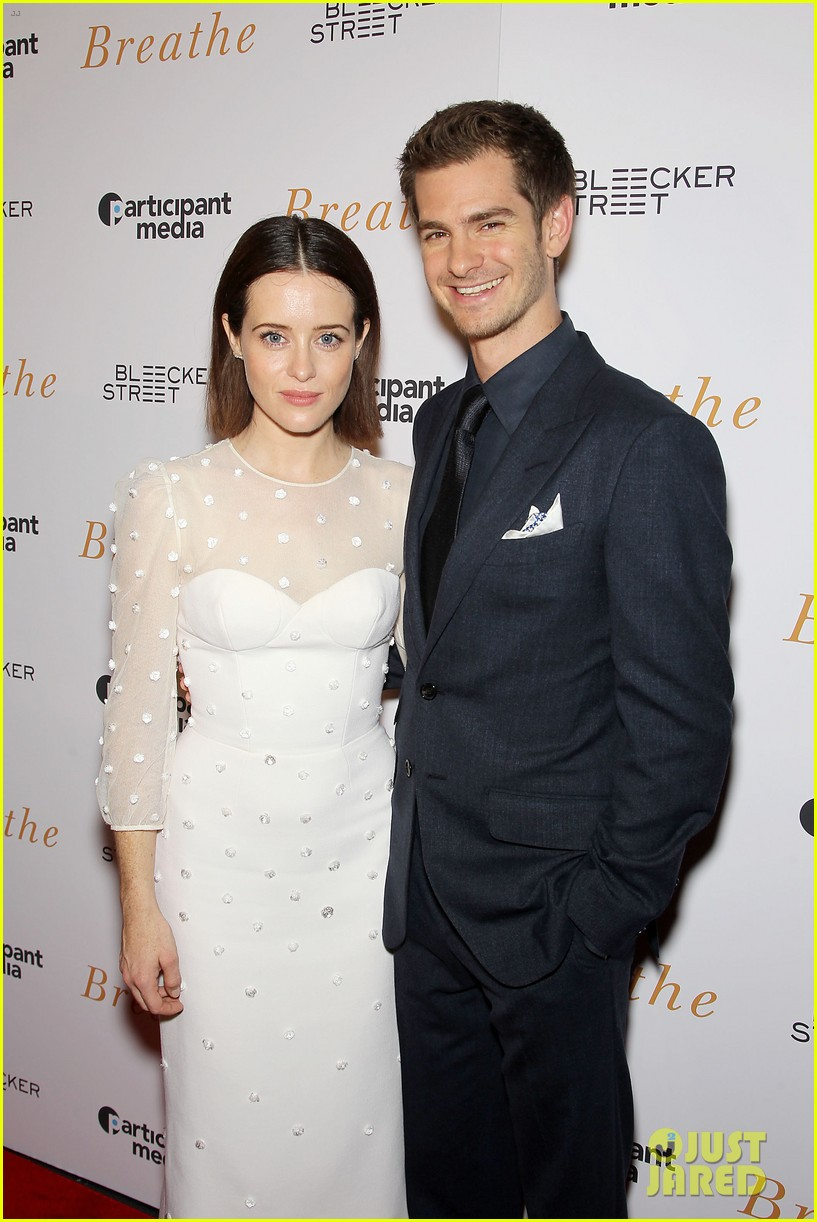 Andrew Garfield Claire Foy Screen Breathe Alongside Real Life Stars Photo 3970350 Andrew Garfield Claire Foy Pictures Just Jared