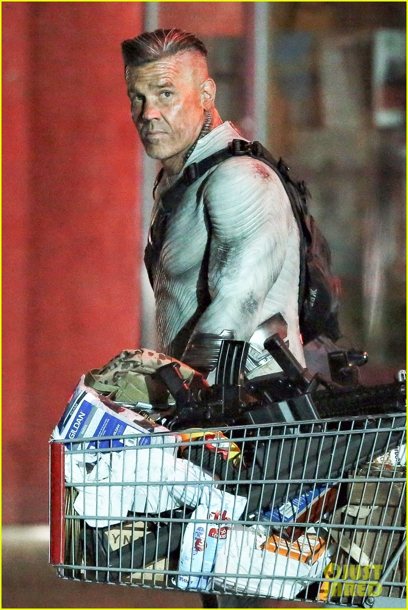 josh brolin in costume as cable for deadpool2 013968022
